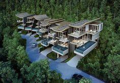 Spacious off-plan villa on Phuket - Phuket Buy House Large Canvas Wall Art, Canvas Wall Decor, Villa Design, House Design, Lofts, Resort Plan, Architecture 101, Luxury Homes Dream Houses, Tropical Houses