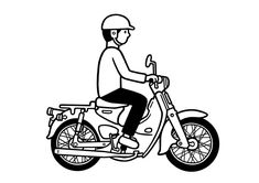 Vespa Logo, Cartoon Of Yourself, Honda Cub, Honda Bikes, Simple Doodles, Motorcycle Art, Mini Bike, Japanese Art, Cubs