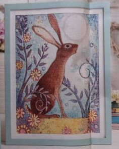 Moon Hare - Suzanne Gyseman - from World of Cross Stitch Magazine issues 232 & 233