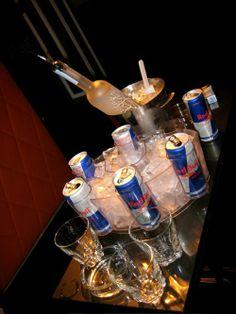Red Bull and Vodka #topshelf #vodka #belvedere #redbull #shots #bombs