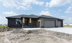 Designer Homes is focused on customer service & quality, providing exclusive, unique, custom homes in North Dakota & Minnesota! House Plans Mansion, My House Plans, House Floor Plans, Modern Bungalow House, Tiny House, Custom Home Builders, Custom Homes, Double Storey House Plans, Prairie Style Houses