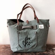 Unique Bags, Simple Bags, Cute Purses, Purses And Bags, Sacs Tote Bags, Sac Week End, Produce Bags, Linen Bag, Denim Bag