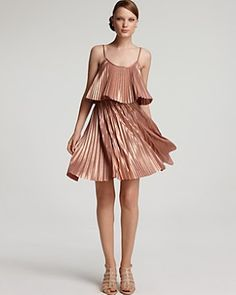 Sit and Stay A While: Halston Heritage Pleated Dress