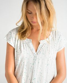 Made in South Africa. Available in Ivory Print, Blush, Lemon and Moonstone Blue and Grey Print, Blush, Lemon and Moonstone Blue. Sustainable Fashion, South Africa, Lemon, Blush, Ivory, Spring Summer, Tunic, Grey, How To Make