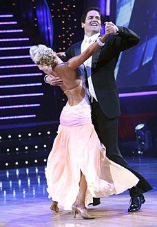 Kym Johnson & Mark Cuban dancing the Viennese Waltz.