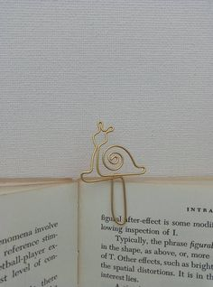 snail wire bookmark for slow reeders hand made aluminum or