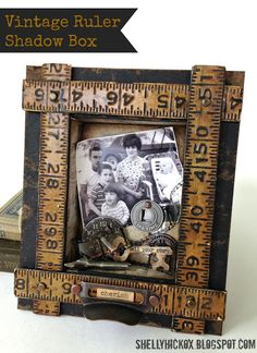 Stamptramp: Sizzix Project - Vintage Ruler Shadow Box