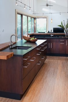 Keep your kitchen up to date and fresh.  How vibrant is this new kitchen remodel? Modern Home by Gardner Mohr Architects