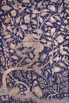 L'arbre cosmique, anonyme, atelier royal de Tabrîz (Iran) ou Hérat (Afghanistan), fin du XVe ou début du XVIe siècle. Bibliothèque du musée de Topkapi, Istanbul.