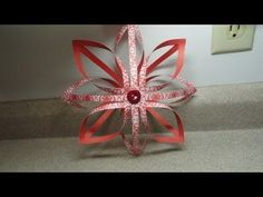 How to make a 3-D Finnish Star Ornament or Decoration. Video