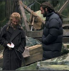The Hobbit behind the scenes - Richard Armitage and Dean O'Gorman