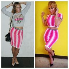 Welcome to AmerieStyle: Who wore The Topshop Print Skirt Better?? Beyonce ...