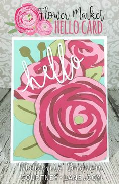 Flower Market Hello card