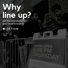 Are you excited for Black Friday and Cyber Monday? Pro Tip: Shop with your favorite brands through OKTIUM and avoid the inconvenience of lining up and going through the crowd. Plus you can start shopping today! No need to wait for Friday. Experience OKTIUM now: https://buff.ly/2iFvADd  #Black Friday #CyberMonday #VideoShopping