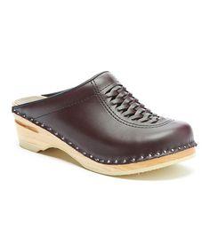 Look at this #zulilyfind! Bordeaux Wright Leather Clog #zulilyfinds