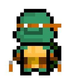 Michelangelo, the pizza loving, nunchaku wielding member of the Teenage Mutant Ninja Turtle Quartet.