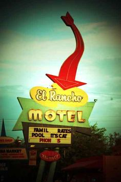 El Rancho Motel, on East Main Street.  Mesa, Arizona.
