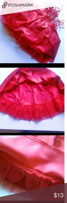 GIRLS 🎄 FANCY TUTU STYLE HOLIDAY SKIRT Red satiny tut style holiday skirt.  Lace petticoat makes this skit flirty and cute!! Size 7/8 Cherokee brand. Elastic waist band for a better fit.  EUC. ASK B4 you buy. Cherokee Bottoms Skirts