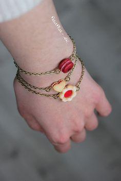 Stackable Bracelet - Oreo, Whoopie Pie, Linzer Cookie, Chocolate Heart - Miniature Cookie / Biscuit Jewelry