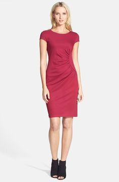 Lafayette 148 New York Cap Sleeve Shirred Side Dress (Regular