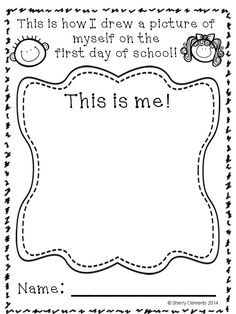 Back to School: Progress Through the Year (Preschool, Kindergarten, first grade & second grades) Shows progress in many areas: coloring, name writing, drawing, writing ABC's and numbers, and drawing a picture and writing about it! Great for collecting work samples throughout the year and saving for an end of year portfolio! $