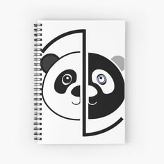 Panda Head, Color Change, Spiral, Notebook, Art Prints, Printed, Awesome, Design, Products