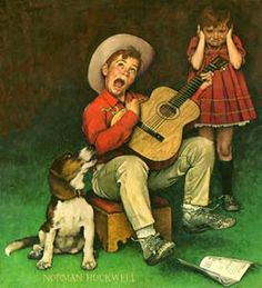 Norman Rockwell [ ❦ Yep, that's me. I don't know what is worse my singing or my guitar playing....guess they're both equally bad.]