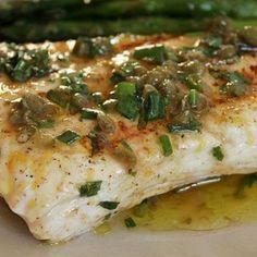 Grilled Halibut with Lemon-Basil Vinaigrette Recipe - Fish Recipes Fish Dishes, Seafood Dishes, Seafood Recipes, Mexican Food Recipes, Dinner Recipes, Holiday Recipes, Grilling Recipes, Cooking Recipes, Healthy Recipes