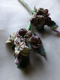 Velvet Millinery Pansies in MOCHA  for Boutonnieres, Bouquets, Corsages, Hats MF 206