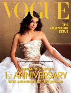 Aishwarya Rai in Vogue India anniversary issue image 1 - Make up by @wowbeaute Founder Denise Rabor
