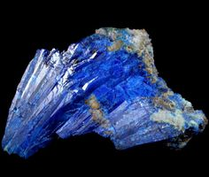 Linarite is known for its electric blue color. Specimens may be mistakenly labeled as Azurite, since both are found in the same localities and can be very similar in appearance. Simple tests can distinguish the two, for their physical properties differ.