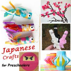 Introduce your kids to Japanese culture by recreating one of these Japanese crafts for preschoolers. Lots of fun kids activities for the home!