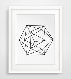 Sphere Art Circle Print Geometric Prints Printable Art Home Decor Modern Art Minimalist Decor Black and White Geometrical (5.00 USD) by MelindaWoodDesigns