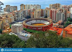 Photo about Pictures of Malaga of the side of Plaza de toros from Gibralfaro fortress. Image of side, panoramic, horizontal - 158578655 Pictures For Sale, Malaga Spain, Times Square, September, Image, Travel, Viajes, Destinations, Traveling