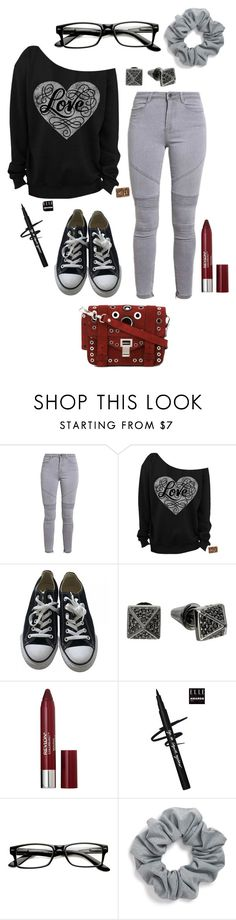 """""""Untitled #192"""" by skylovessave ❤ liked on Polyvore featuring Converse, Eddie Borgo, Revlon, ZeroUV, Natasha Couture and Proenza Schouler"""