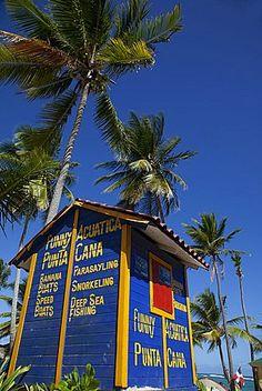 Deportes acuáticos Hut, Playa Bávaro, Punta Cana, República Dominicana, Antillas, Caribe, América Central