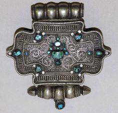 Tibet, Woman's Ga'u | 18th century, Silver and turquoise