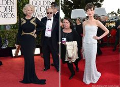 The best and worst dressed at the Golden Globes: http://abcn.ws/V7DdAg.....plus bobble head anne