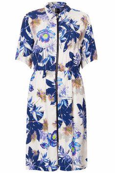 Orchid Flower Shirt Dress