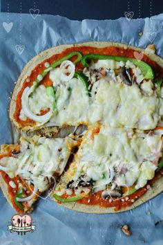 Pizza con base de harina de garbanzo. Sin gluten.