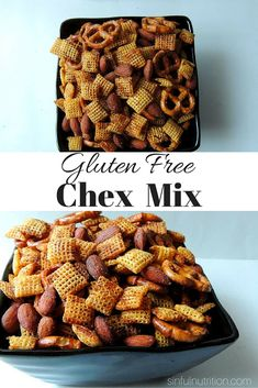 This Gluten Free Chex Mix Recipe is a seriously addicting party snack that everyone will enjoy! Love the smokey and salty combo.