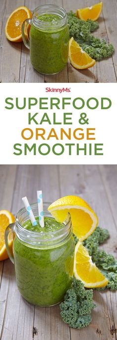 This Kale & Orange Smoothie is a staple in the mornings!
