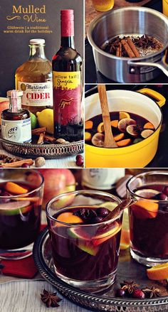 Mulled Wine/Glühwein is a warm winter German version of sangria that tastes like Christmas. Start a new family tradition with this belly-warming hot holiday punch recipe. Punch Recipes, Wine Recipes, Cooking Recipes, Muled Wine Recipe, Mulled Wine Recipe Easy, Homemade Mulled Wine, Alcohol Recipes, Bon Appetit, Sweets