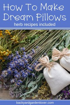 Making dream pillows is fun to do on a cold day with your kids. Learn how to easily make DIY herbal dream pillows you can use yourself or give as gifts. Lots of ideas and a few recipes included here. - Kids Pillows - Ideas of Kids Pillows Garden Gifts, Diy Garden Decor, Diy Decoration, Diy Origami, Homemade Gifts, Diy Gifts, Homemade Potpourri, Gift Crafts, Homemade Beauty