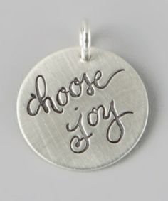 Look at this #zulilyfind! Sterling Silver 'Choose Joy' Charm #zulilyfinds