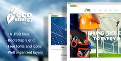 cool Eco Power - Ecology & Various Power Firm PSD Template (Enterprise)