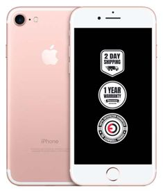 Iphone 7 Rose Gold 128gb Unlocked Ecommsell 12 Month Warranty Included Free 2 Day Shipping Amazing Customer Support Iphone 7 Rose Gold Iphone 7 Iphone