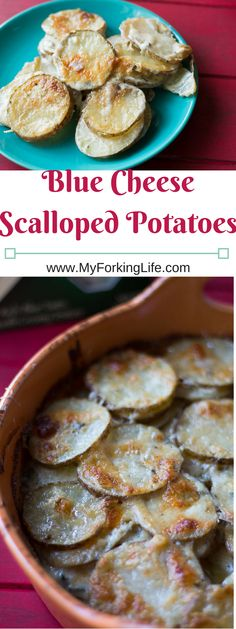 Blue Cheese Scalloped Potatoes. Side dish. Great spin on traditional scalloped potatoes. potatoes au gratin.
