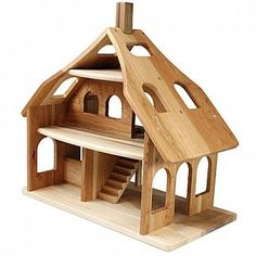 cherry dollhouse : Nest European Toys + Home Wooden Dollhouse, Diy Dollhouse, Dollhouse Furniture, Doll Furniture, Wooden Baby Toys, Wood Toys, Wood Animals, Woodworking Plans, Woodworking Projects