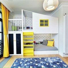 Kids' room without bunk beds is empty of fun and color. The trendy bunk beds these days that are mak Cool Bedrooms For Boys, Kids Bedroom, Bedroom Decor, Kids Rooms, Bedroom Ideas, Teen Rooms, Nursery Ideas, Bed Ideas, Shared Bedrooms